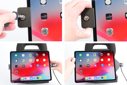 Inštalácia produktu Aktívny držiak pre Apple iPad Pro 12.9 2018/ 2020 s uzamykaním. Krok 3.