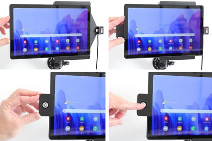 Inštalácia produktu Aktívny držiak pre Samsung Galaxy Tab A7 10.4 USB+CL s uzamykaním. Krok 2.