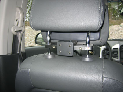 Inštalácia produktu Konzola pre montáž na sedadlo v aute (na opierku hlavy) 95-155m. Krok 4.