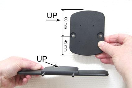 Inštalácia produktu Konzola pre montáž na sedadlo v aute (na opierku hlavy) Volvo Krok 1.
