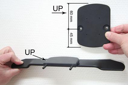 Inštalácia produktu Konzola pre montáž na sedadlo v aute (na opierku hlavy) Volvo II Krok 1.