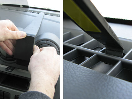Inštalácia konzoly Proclip 854165 - Renault Logan 07-08, Dacia Logan 07-08, stred Krok 1.