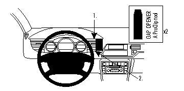 Brodit ProClip 854329 for Citroen C5 III 08-17 Center Mount