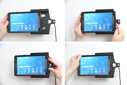 with cig-Plug for Samsung Galaxy Tab S 8.4 SM-T700//SM-T705 Brodit 521685 Active Holder