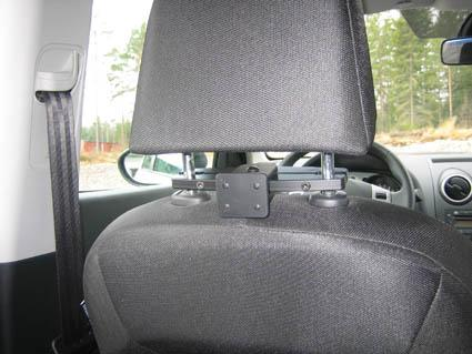 Headrest mount Fits headrests with the following ...